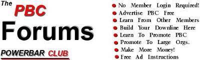 Use The Powerbar Club Forum Free Advertising!