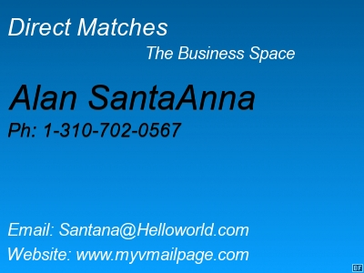 Direct Matches, a place for business