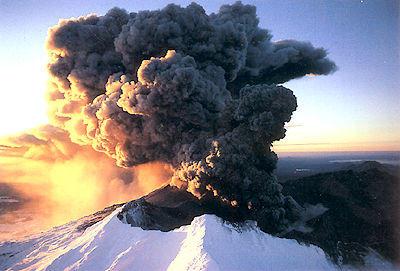 Sunset Eruption, Mt Ruapehu Poster